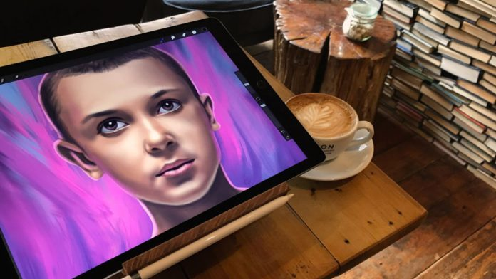 Procreate has the best interface drawing and painting on an iPad