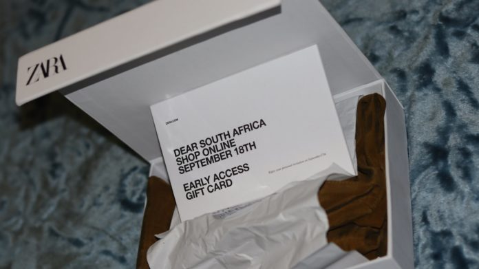 Zara South Africa's online store shopping voucher posted on Twitter