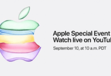 2019 September 10 Apple Event YouTube live streaming media invitation
