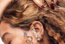 Beyonce wearing artfully designed 'Ivy Park x Adidas' ear studs