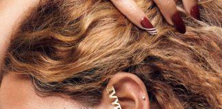 Beyonce wearing artfully designed 'Ivy Park x Adidas' ear studs