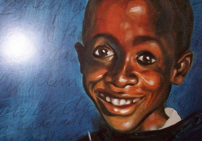 An artist impression of the late South African AIds activist Nkosi Johnson