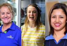 A photo collage by NOWinsa featuring Cash Crusaders franchisee Susan Marx [left], EWN sportscaster Cato Louw {middle}, and Ceagan Hendricks [right], from Cash Crusaders