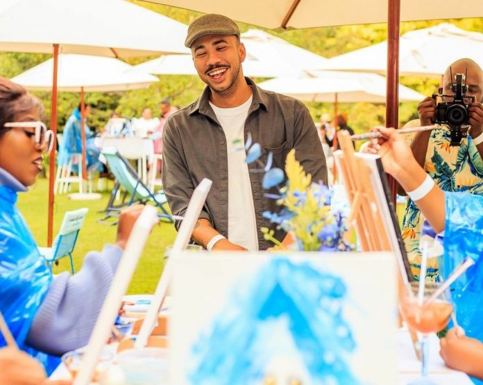 Cape Town-based illustrator and graphic designer Russell Abrahams poses for a picture during Bombay Sapphire's Million Acts of Creativity event.