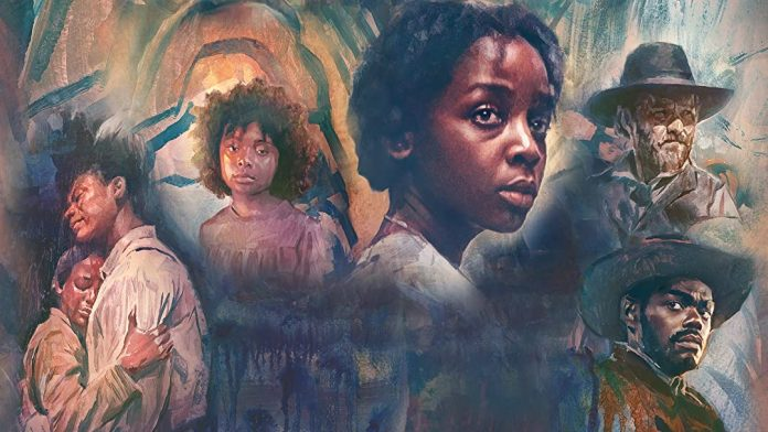 A poster of The Underground Railroad film featuring South AFrican actressThuso Mbedu